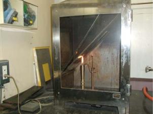 45°燃焼性試験装置