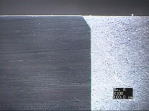 ローサイト製品の断面写真