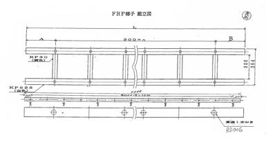 図1.FRP電気絶縁梯子組立図