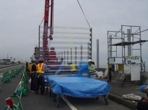 透明越波柵の施工事例