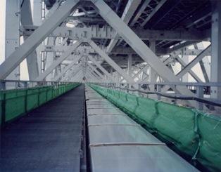 写真2. 橋梁設置例 トラフ(横スネーク)