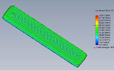 実施例- ガラス⼀体成形(インサート) におけるガラスと⾦型設計の最適化のた めの解析例